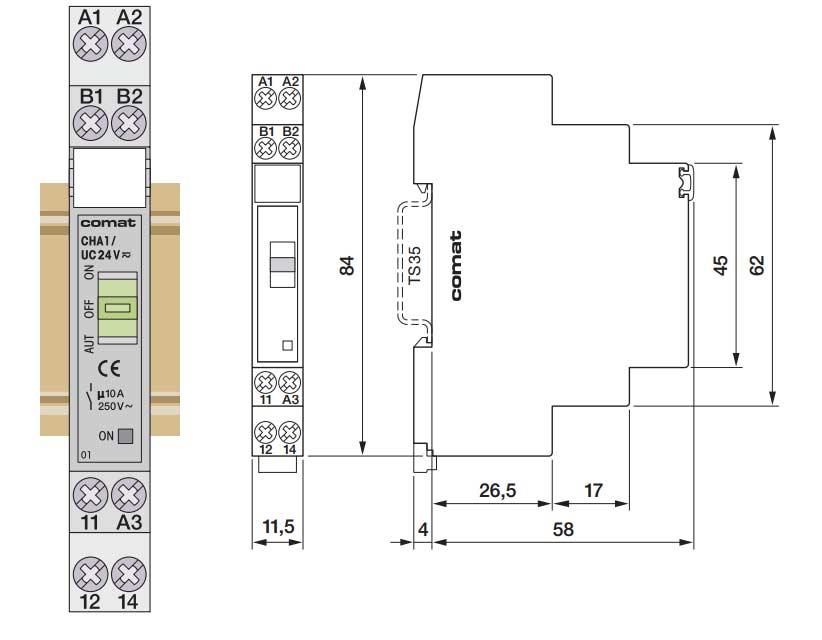 CHA1 - Relé com função auto-on-off - Interface PLC